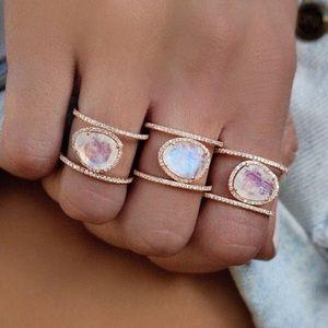 2 left! NWT moonstone purple/pink Ring (sz 5 6 7)